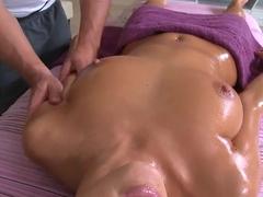 Brunette Breanne Benson relaxing in spa