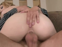 Precious blonde chick Lily LaBeau got her cunt stuffed with tight big cock and passionately riding.