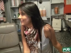 Busty euro babe Mia Manarote gets fucked in a tanning salon