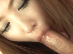 Iori Mizuki gets back from shopping and sucks her master's cock