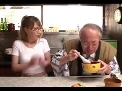 Old man and Beautiful Japanese Girl TIA 2
