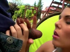 Hottest pornstar Melanie Memphis in amazing deep throat, outdoor xxx movie