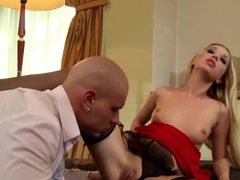 Exotic pornstar in amazing creampie, blonde porn movie