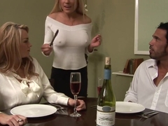 Horny pornstars Paige Ashley and Cindy Behr in hottest blonde, threesome sex movie