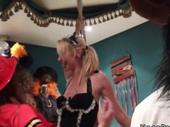 Hot amateurs fucking at Halloween party