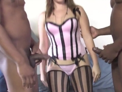 Sexy HotWife Alice Bell Gets Fucked By 2 BBC While Cuckold Watching