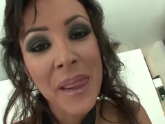 Amazing pornstar Lisa Ann in incredible big tits, squirting sex scene
