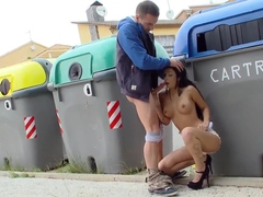 Arresting and seductive brunette Susi Gala fucks with a lover in public