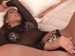 Cindy Hope Klaudia plays with rubber dildo