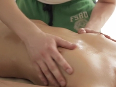 Kick-ass naked massage video