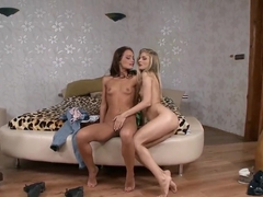 Cayenne Klein and Sophie Lynx sharing dick
