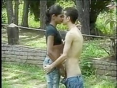 Hot ts latin babe outdoor