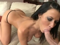 Busty horny milf Rachel Starr seduces young stud