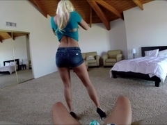 Hottie blonde babe Jessie Volt gets doggystyle fuck filmed in POV