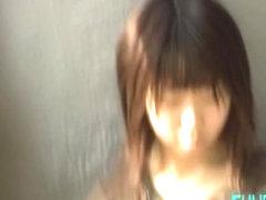 Sperm sharking video featuring an adorable Japanese girl