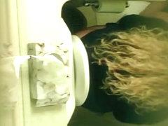 Blond Caught Peeing