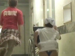Enjoyable thong view of chubby nurse on sharking movie