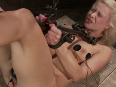 Hot Blonde Anikka Albright's FIRST BONDAGE SHOOT EVER!