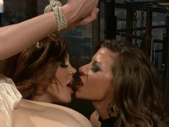 Crazy fetish, lesbian sex clip with amazing pornstars Francesca Le, Penny Pax and Ariel X from Whi.