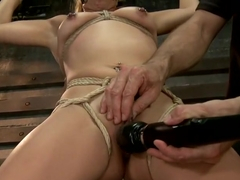 Horny Little Latin Fuck Overpowered by Orgasms and Bondage