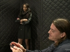 Hot Huge Cock Sex in an Elevator with TS Honey FoXXX