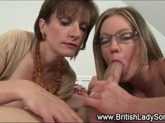 British mistress fucks milf with strapon
