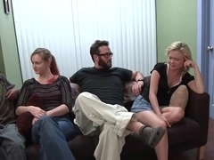 Group sex with a pair of hot lassies