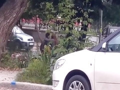 Couple trying to fuck out in the open
