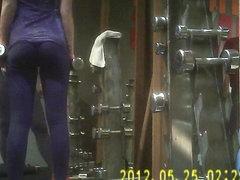 Gym Girl in Black Tight Spandex-2
