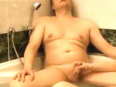 Bathtub handjob and fuck