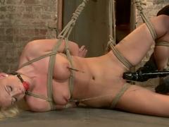 HOT girl next door tomboy gets bent in unforgiving bondage.