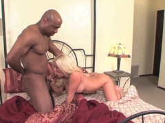 Busty blonde Crista Moore gets nailed by black bull
