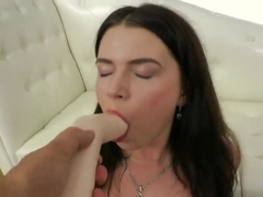 Marina Visconti gets dildo in mouth and anal