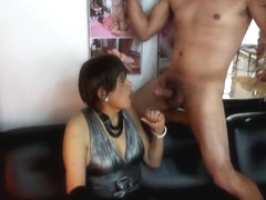 Vicious  of anal sex in orgy whit his three husbands