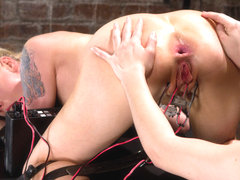 Lorelei Lee & Bobbi Starr in Lorelei Suffers To An Intense Electro Anal Fucking - Electrosluts