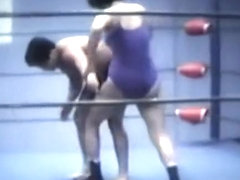 Mixed ring Wrestling. Vintage 1