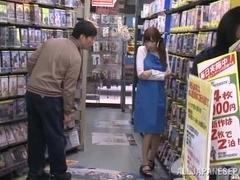 Julia nasty Japanese milf fucks in public places