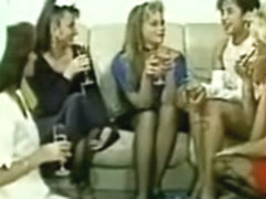 Three Lascivious French dykes in a classic porn movie
