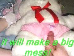 Diaper fetish sissy fucking teddy bears and pecker