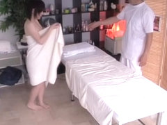 Asian cunt drilled by my cock in hidden camera massage video
