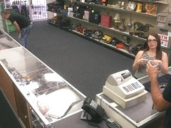 Slut pawns her pussy at the pawnshop to earn extra cash