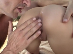 Best pornstar Sasha Rose in fabulous blonde, outdoor sex video