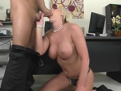 Gorgeous blonde Skylar Price is having her pussy banged hard