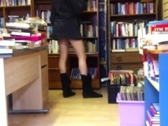 tranny flashing in book store