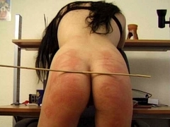 BrutalPunishment Video: Liz's Blush-Red Butt