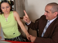 TrickyOldTeacher - Party student must fuck teacher and give blowjob to pass hard class