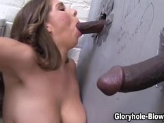 Creampied gloryhole slut