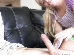 Small blonde gets railed