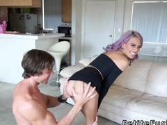 Petite babe gets extra small pussy banged