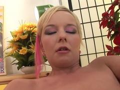 Crazy pornstar in horny hairy, blonde adult clip